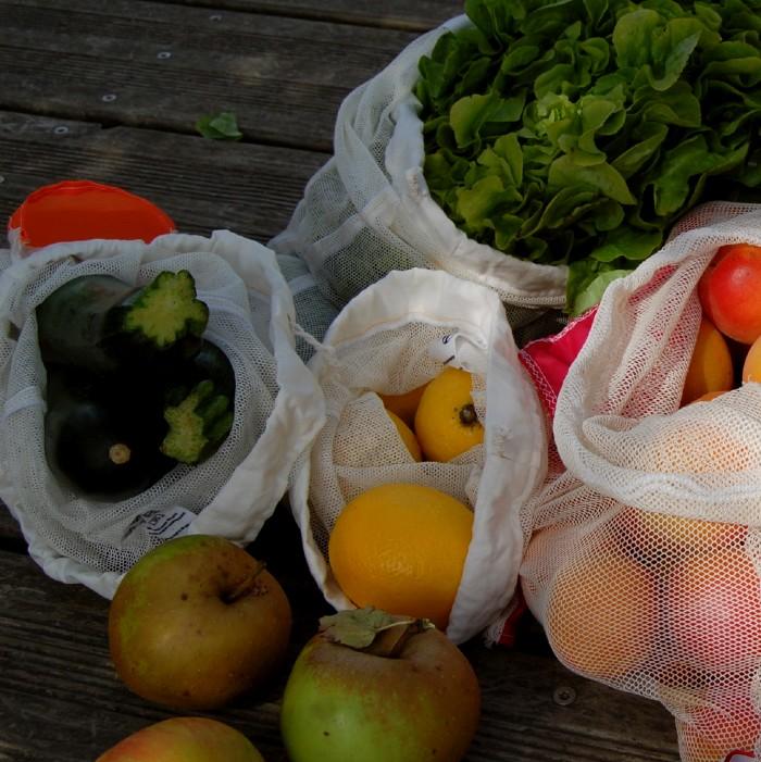 les fruits et les légumes en filets