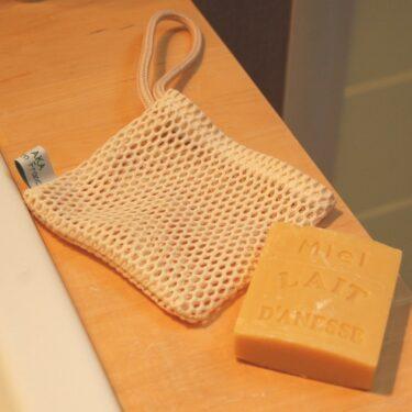 le filet à savon en coton Bio