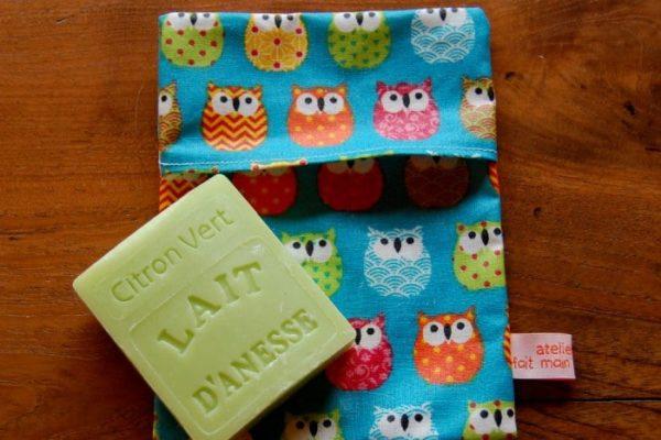pochette à savon turquoise 1