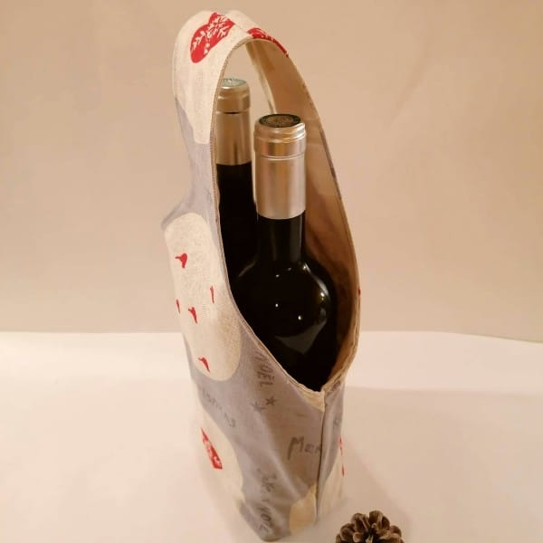 porte-bouteille de Noël