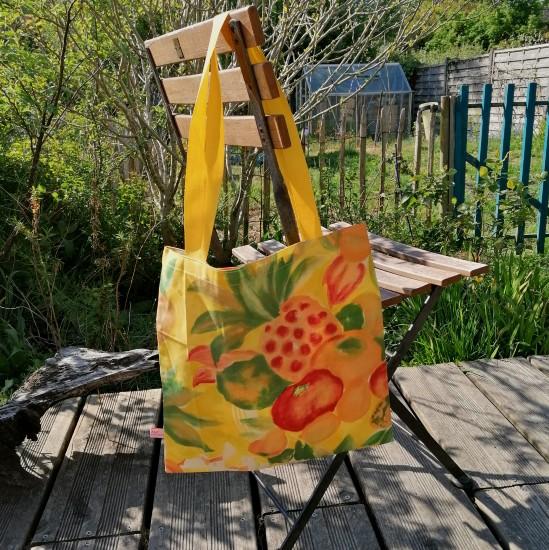 sac tote-bag jaune